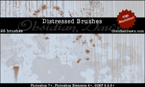 Distressed Brushes