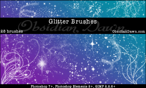 Glitter Brushes by obsidiandawn.com