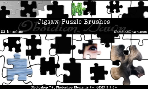 jigsaw puzzle template. Jigsaw Puzzle Pieces Brushes