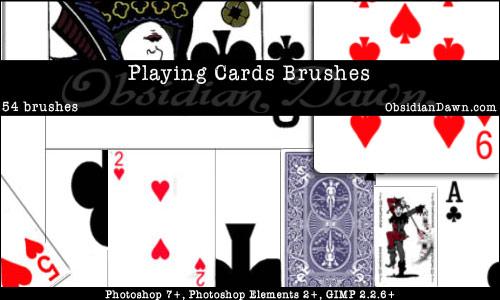 Playing Cards Photoshop  U0026 Gimp Brushes