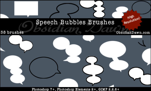 Speech Bubbles Brushes