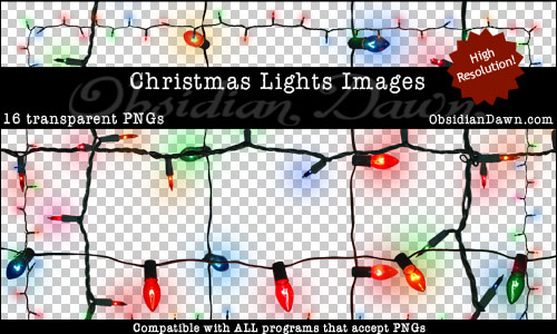 Christmas Lights PNGs Images
