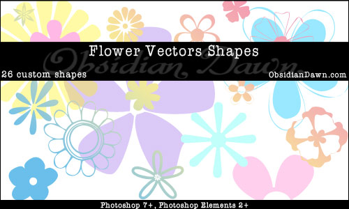 Flower Vectors Shapes