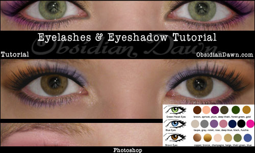 Eyelashes and Eyeshadow Tutorial