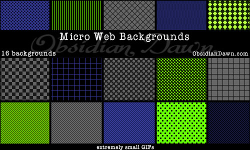 backgrounds for web. Micro Web Backgrounds. Programs: Any that support GIFs