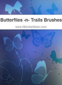 Butterflies -n- Trails Brushes