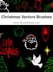Christmas Vectors Brushes