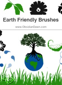 Earth Friendly Vectors Brushes