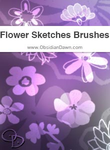Flower Sketches Brushes