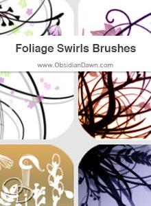 Foliage Swirls Brushes
