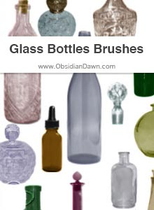 Glass Bottles Brushes