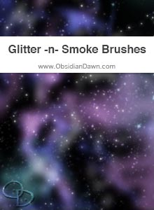 Glitter -n- Smoke Brushes