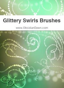 Glittery Swirls Brushes