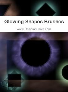 Glowing Shapes Brushes