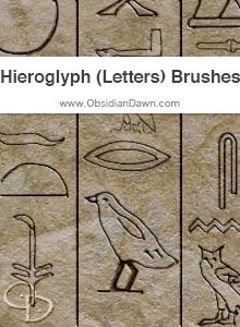 Hieroglyphs (Letters) Brushes