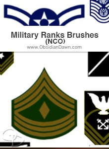 Military Ranks (Enlisted) Brushes