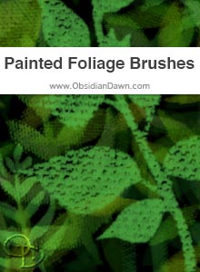 Painted Foliage Brushes