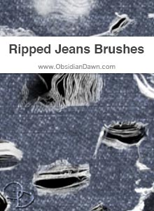 Ripped Jeans Brushes