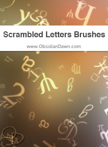 Scrambled Letters & Symbols Brushes