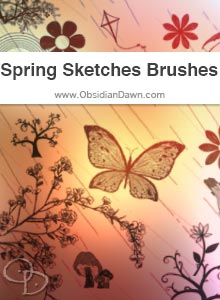 Spring Sketches Brushes