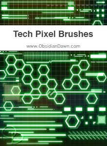 Tech Pixel Brushes