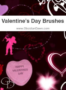 Valentine's Day Brushes