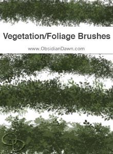 Vegetation / Foliage Texture Brushes