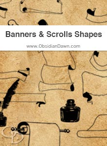 Banners & Scrolls Shapes