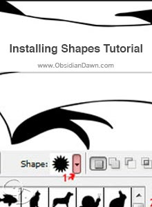 Installing & Using Photoshop Shapes Tutorial