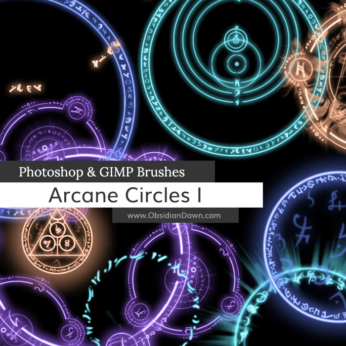 Arcane Circles I Brushes