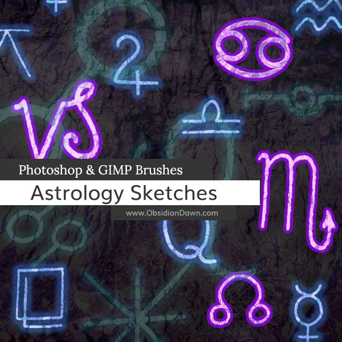 Astrology Sketches Brushes