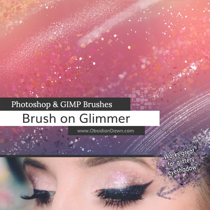 Brush on Glimmer Brushes