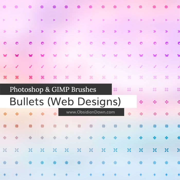 Bullets (Web Icons) Brushes