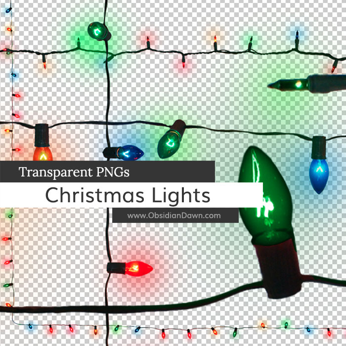 Christmas Lights Transparent PNGs | Obsidian Dawn