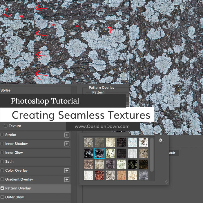 Creating Seamless Textures In Photoshop Tutorial Obsidian Dawn Delectable How To Make A Seamless Pattern In Photoshop
