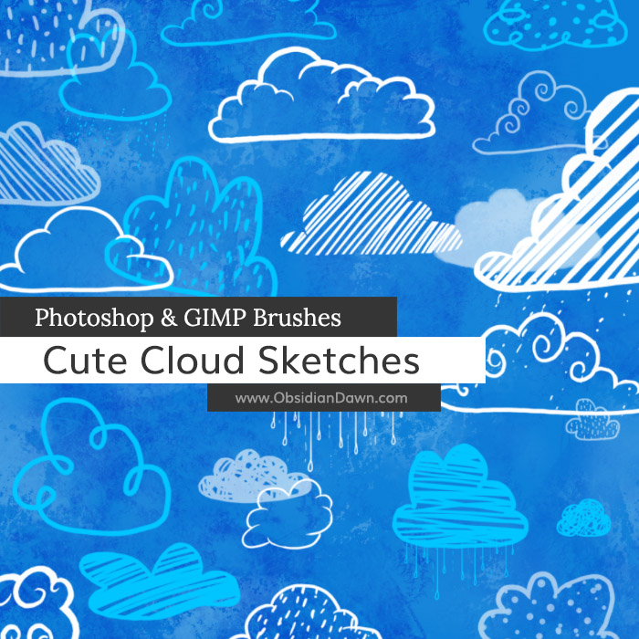 Cute Cloud Sketches Brushes