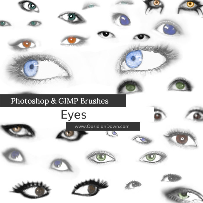 Eye makeup brushes photoshop