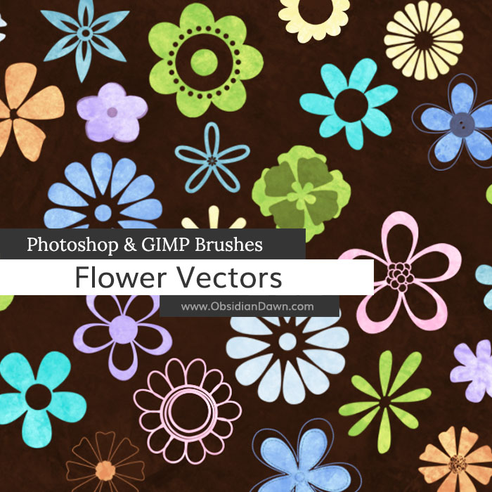 Flower Vectors Brushes