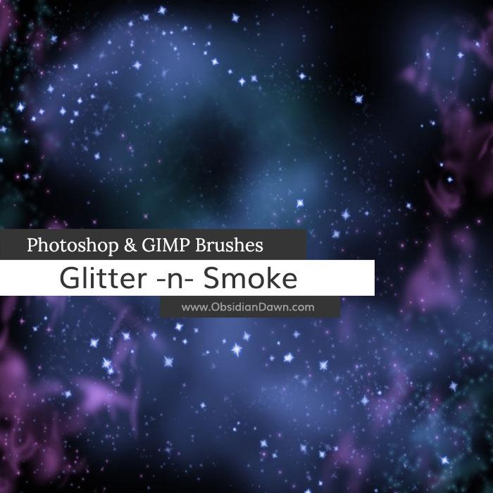 Glitter -n- Smoke Brushes