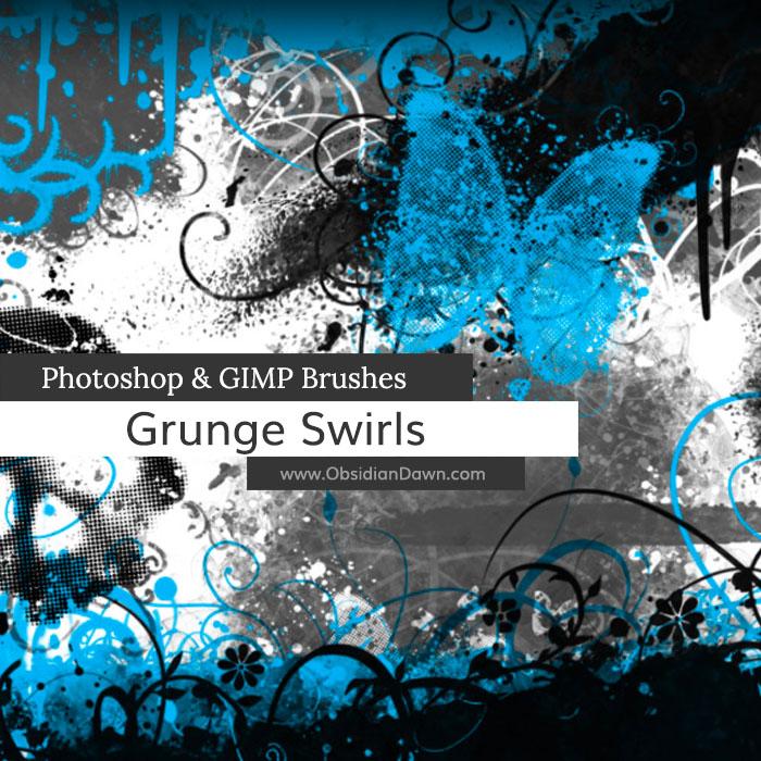 Grunge -n- Swirls Brushes