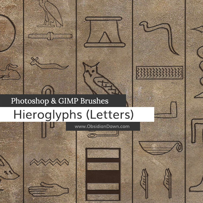 Hieroglyphs (Letters) Brushes