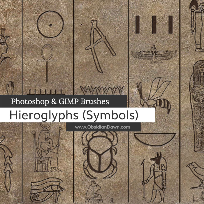 Hieroglyphs (Symbols) Brushes