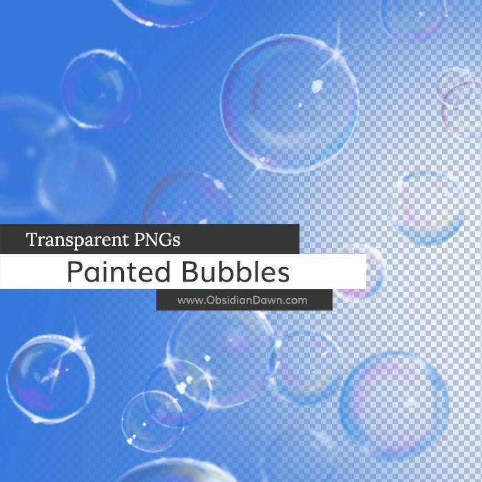 Painted Bubbles PNGs