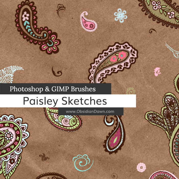 Paisley Sketches Brushes