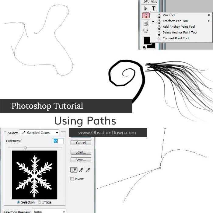 Paths in Photoshop Tutorial