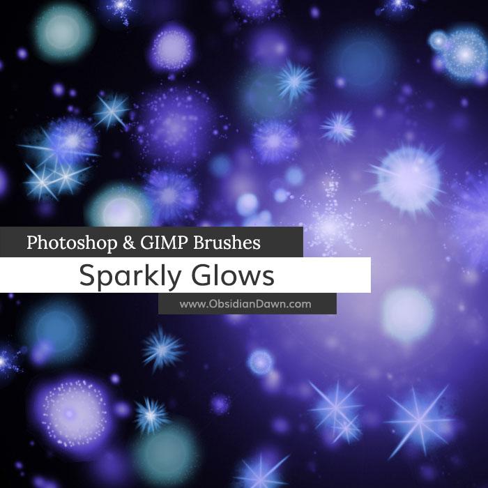 Sparkly Glows Photoshop & GIMP Brushes