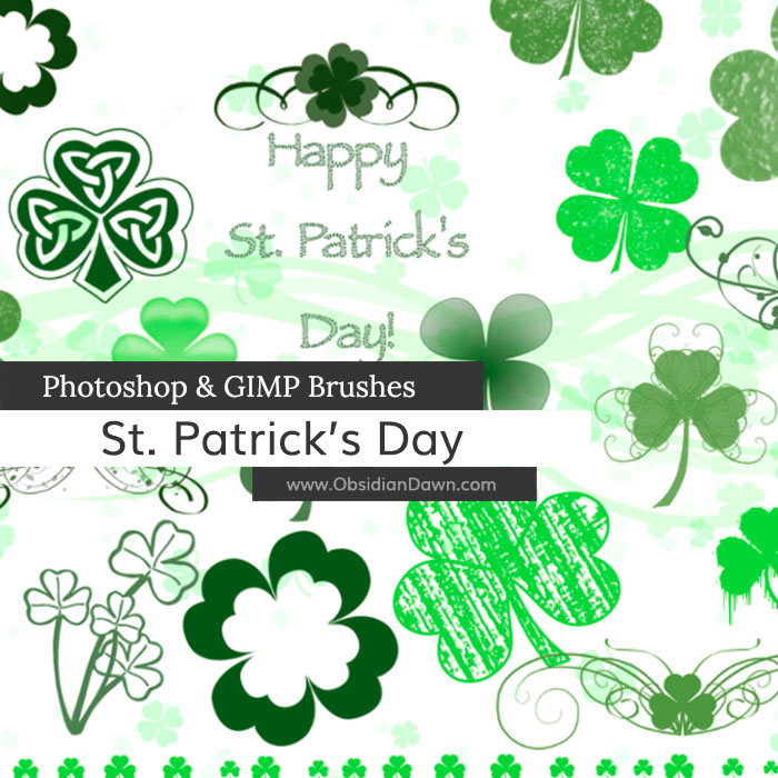 St Patrick's Day Brushes