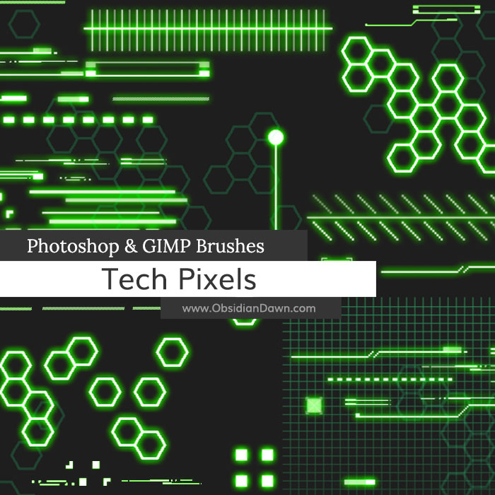 Tech Pixels Brushes