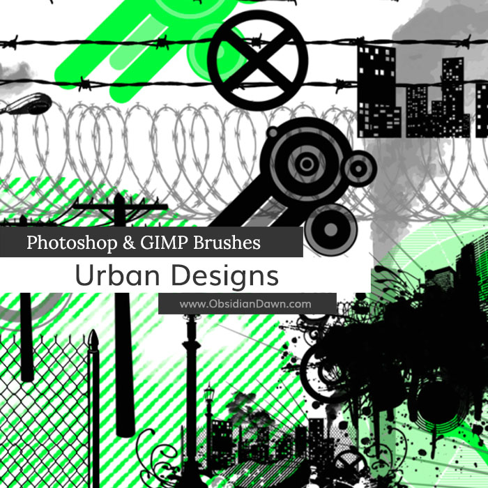 Urban Designs Vectors Brushes