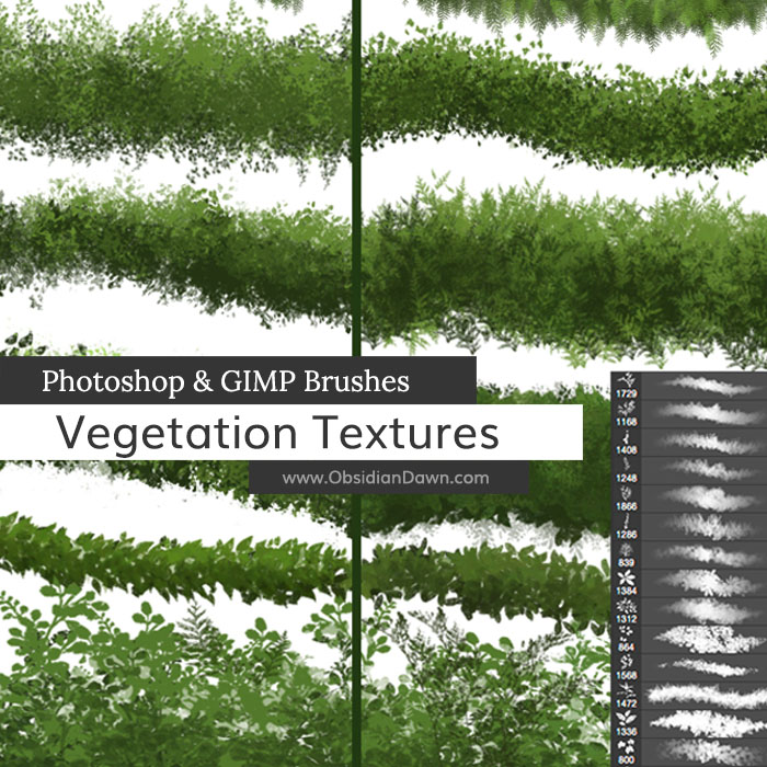 Vegetation / Foliage Texture Brushes